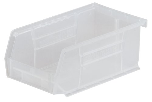 Akro-Mils 30220 Plastic Storage Stacking AkroBin, 7-Inch by 4-Inch by 3-Inch, Clear, Case of ()