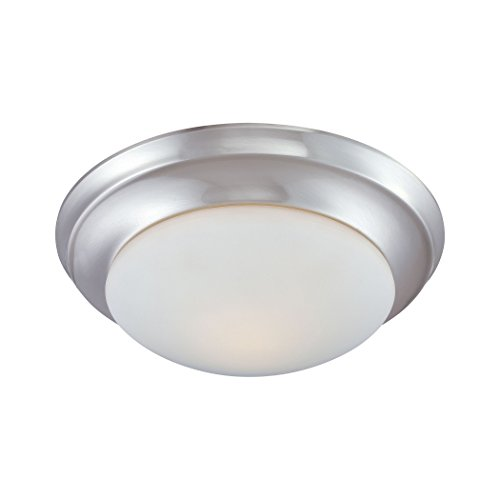 Fluor Flush Ceiling Lamp Brushed Nickel