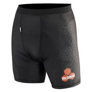 McDavid 769 HexPad Football Rugby Compression Shorts Black L McDavid 769R Black L