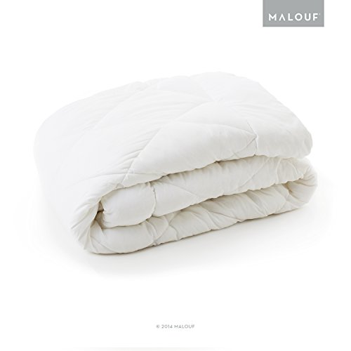 MALOUF WOVEN White Down Alternative Microfiber Comforter with Corner Tabs for Duvet Cover - Cal (Royal Hotel Resort)