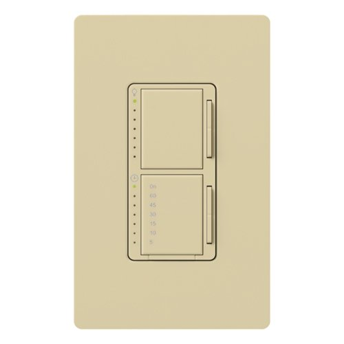 (Lutron MA-L3T251-IV Maestro 300 Watt Single Pole Dimmer And Timer Switch, Ivory )