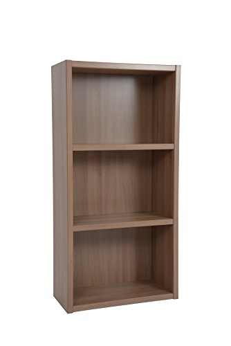 Boraam 40080 Techny Collection Hartley Hollow Core Bookcase, Light Oak Dvd Storage Bookcase