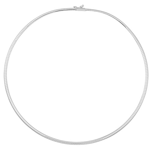 14k White Gold Omega Chain - Kooljewelry 14k White Gold 2.5 mm Omega Chain Necklace (18 inch)