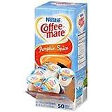 Liquid Coffee Creamer, Pumpkin Spice, 0.375 oz Mini Cups, 50/Box, Sold as 1 Box, 50 Each per Box
