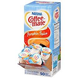 Liquid Coffee Creamer, Pumpkin Spice, 0.375 oz Mini Cups, 50/Box, Sold as 1 Box, 50 Each per Box (Coffee Mate Pumpkin Spice compare prices)