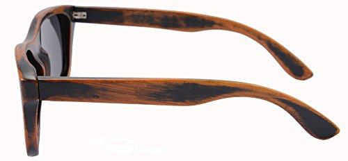 Main Grey Stain Vintage Les Soleil Z6016 Bambou Bois Shinu De Polarisée Bamboo La Lunettes Retro Cas wZ6q4IpFT