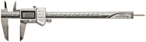 Mitutoyo ABSOLUTE 500-736-10 Digital Caliper, Stainless Steel, Battery Powered, Inch/Metric, 0-8