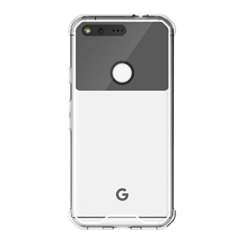 Cruzerlite Google Pixel Case, Defense Fusion Fender [TPU/Hard Plastic] Case for Google Pixel -  Retail Packaging - Clear