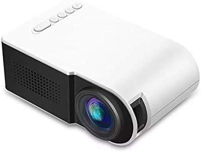 プロジェクタ 1080P小型LEDプロジェクターのコントラスト800:1つの支持体解像度1920x1080の解像度320×240の3Dホームシアター ーカー ホームシアター 天井投影 (Color : White, Size : One size)