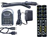 4 Hr Aa/Aa Smart Charger & 8 Aaa 1100 Mah Acculoop-X (Low Discharge) Batteries