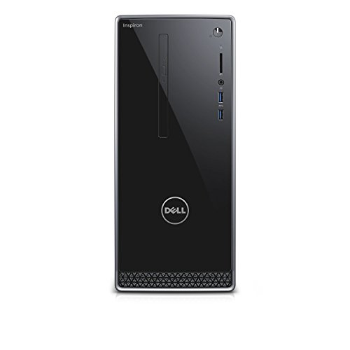 2018 Dell Inspiron 3650 High Performace Tower Desktop Computer, Intel Dual-Core i3-6100 up 3.70GHz, 6GB DDR3L RAM, 1TB 7200RPM HDD, DVD, WIFI, Bluetooth, HDMI, VGA, Windows10 - Wave Tower Light