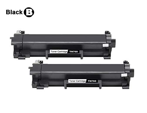 PayForLess® TN 760 TN 730 2PK With Chip Toner Cartridge For Brother  HL-L2370DW Brother DCP-L2550DW Brother HL-L2390DW Brother MFC-L2750DW  Brother