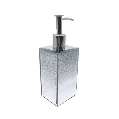 American Atelier Soap Dispenser - Elegant Pump Bottle for Liquid Soaps, Lotions & More - Adds Contemporary Style, Convenience & Organization to Bath Or Kitchen - Available in Few Designer Metallic