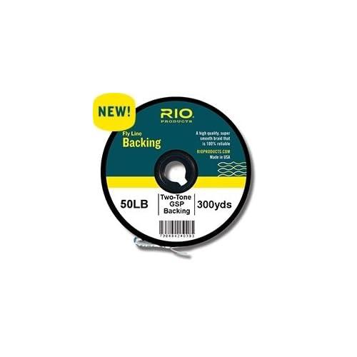 Image of Rio Fly Fishing Backing 2-Tone Gel Spun, 50Lb 500 yd. Fly Tying Equipment, Clear