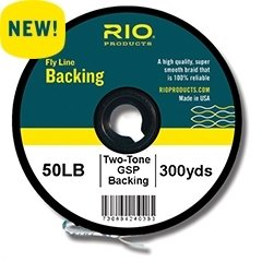 Rio Fly Fishing Backing 2-Tone Gel Spun, 50Lb 100 yd. Fly Tying Equipment, Clear