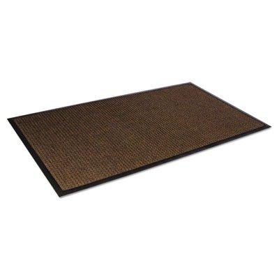 Crown - Super-Soaker Wiper Mat w/Gripper Bottom, Polypropyl, 34 x 119, Dark Brown - Sold As 1 Each - Loop pile polypropylene fibers remove dirt and moisture.