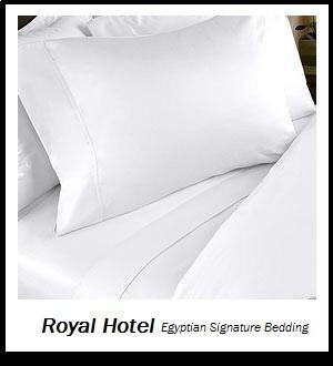 Royal's Solid White 300-Thread-Count 2pc Twin Duvet-Cover 100-Percent Egyptian Cotton, Superior Percale Weave, 100% Cotton