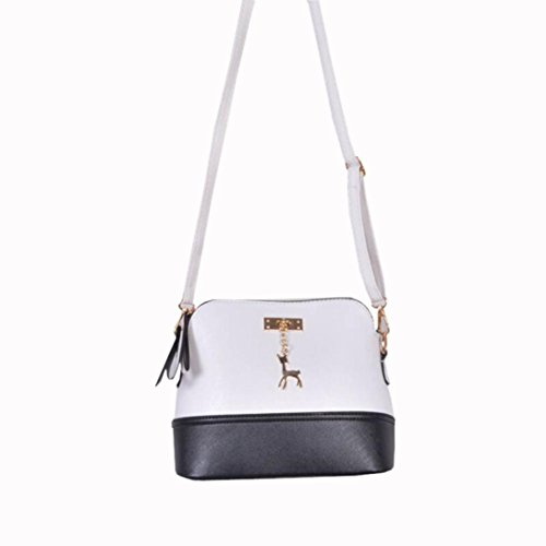 Bag with White with Crossbody Medium Deer Clearance Small CieKen Pendant Tassel Lightweight pxw00I