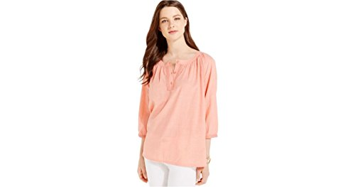 tommy-hilfiger-embroidered-trim-peasant-top-burnt-coral-x-large