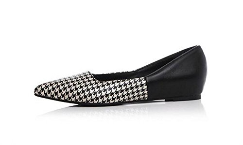 LDMB Printemps et été Chaussures à talons plats à pointes pointues chaussures paresseuses chaussures , black , 37