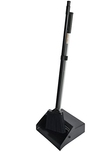 "Janico 10854051 Lobby Dustpan & Lobby Angle Broom Combo Set, 37"" Height, Black by Bristles"