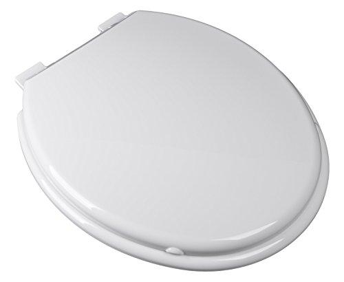 - Bath Décor 2F1R9-00 Premium Plastic Family Slow Close Round Top Mount Toilet Seat with Adjustable Hinge