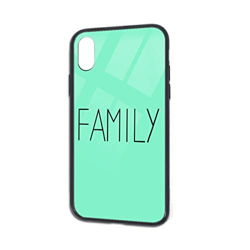 Shockproof Family Glass Back Phone Case for iPhone X iPhone Xs]()