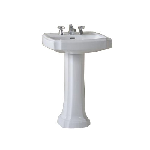 (TOTO Lt970-11 Guinevere Pedestal Single Hole Basin, Colonial White)
