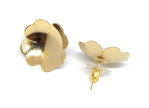 73b215d784c Stud Earrings 18K Gold Plated Clover Perfect for Every Day