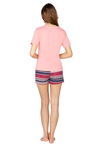 Plus shirt da CHLOE T Size Big Rosa 6XL con Sovrastampa Pantaloni Donna Size di Grandi Pezzi Pigiama Due BeComfy Dimensioni Cotone 2XL RwEBOwzq6