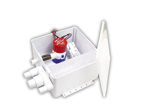 Rule 98A Marine Shower Drain Kit, 800 GPH , 12-Volt, Multi-Port Inlet, Mercury Free Rule A-matic Plus Switch