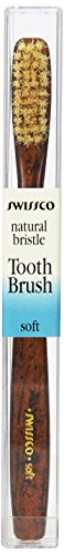 Swissco Tooth Brush Tortoise Natural Bristle, Soft, 3-Count Pack (Tortoise Natural)