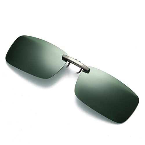 Mchoice Detachable Night Vision Lens Driving Metal Polarized Clip On Glasses Classic Sunglasses - At The Eye Rim Custom Care