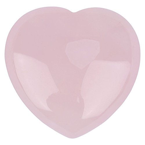 Natural Rose Quartz Gemstones Crystal Heart-shape Carved Healing Stone Statue Figurine Crafts for Home Office Decor - Pink