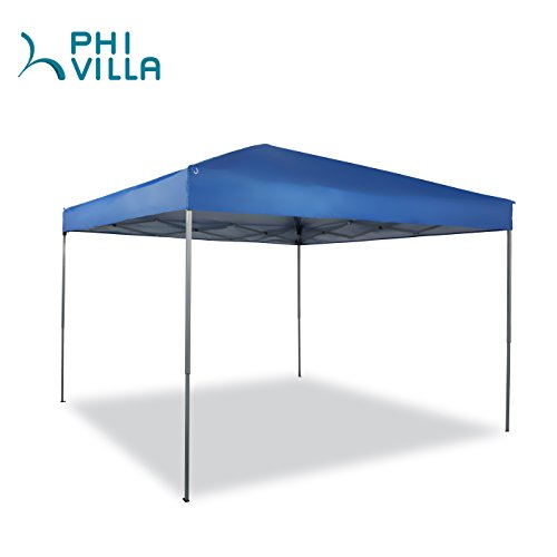 PHI VILLA 10 x 10ft Portable Pop-Up Canopy Straight Leg, Blue (Canopy Event)
