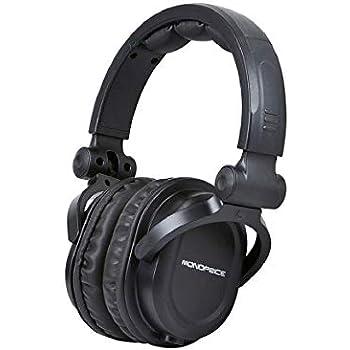 22ad0c750c5 Monoprice Premium Hi-Fi DJ Style Over-The-Ear Pro Headphones with A