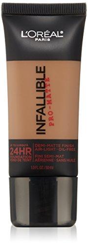 L'Oreal Paris Infallible Pro-Matte Foundation Makeup, 109 Classic Tan, 1 fl. oz.