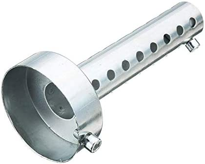RENCALO 35mm//42mm//45mm//48mm//60mm Motorcycle Exhaust Can Muffler Silencer Chrome Universal-48mm