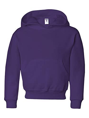 Hoodie 2008 Kids - Jerzees Girls NuBlend 50/50 Pullover Hood (996Y) -Deep Purpl -S
