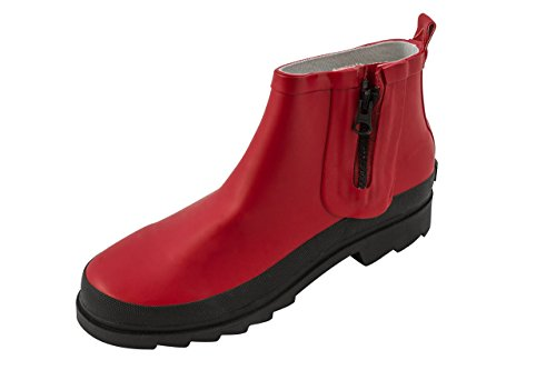 4 Sanita Shaft Welly Red Women's Fiona Boots Red Short Rubber rwqzr5CI