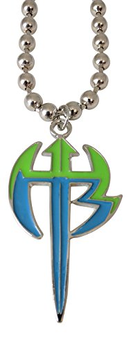 Jeff Hardy Green Logo Pendant Necklace with silver chain WWE (Pendant Wwe)
