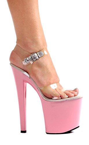 Ellie Shoes Womens 821 Brook Platform Sandaal Helder W / Roze