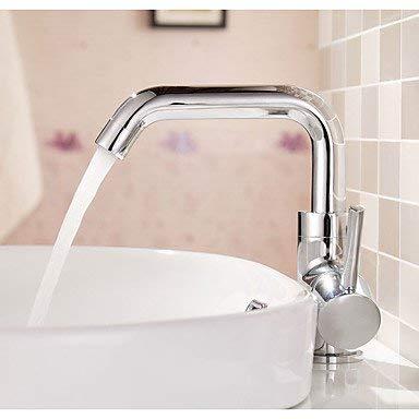 Wghz Contemporary Art Deco/Retro Modern Thermostatic Basin Faucet Rain Shower Widespread with Ceramic Valve Bathroom Taps Mixer