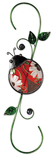 Sunset Vista Designs Metal and Glass Decorative Ladybug Hook, 18