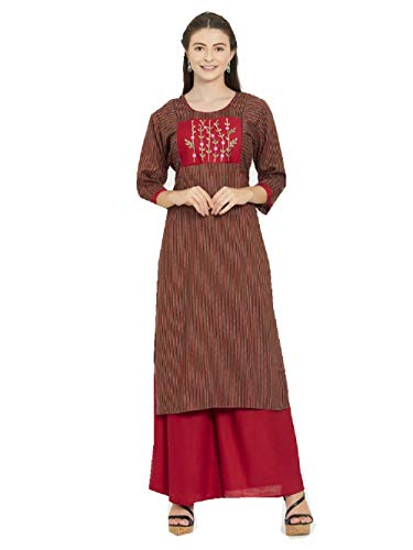 Delisa New Multi Designer Women Straight Multi Design Printed Kurti for Women Tunic Top 3/4 Sleeve Dress Plzzo (Multi-220, 3XL-46)