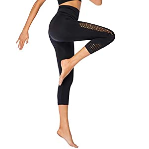 Eono par Amazon – Legging de Sport Femme Anti Cellulite Pantalon de Yoga Corsaire Collants Taille Haute