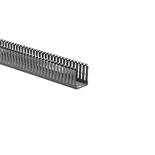Hellermann Tyton North America 184-15202 High Density Slotted Wall Wiring Duct, 1.5'' x 2'', Non-Adhesive, PVC, Gray 120'/Carton, 2.0699999999999998'' Height, 1.5'' Width, 6' Length (Pack of 120)