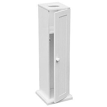 Großartig Boden Stehend weiß Holz WC-Papier Schrank 19,5 x 19,5 x 65 cm  ZX38
