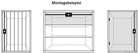 Generalschl/üssel einzeln Schubstangenschloss + 2x 1m Stange Schubstangenschloss codiert Schrankschloss M/öbelschloss mit Schubstangen codiert 2 Schl/üssel Stangen 2x 1m oder 2x 1,2 m k/ürzbar