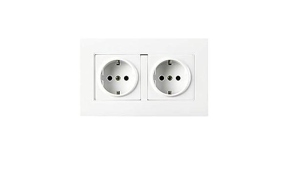 Lochi Dual Socket Plug Wall Power Grounded 16a 250v Eu Standard